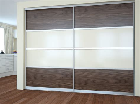 modern dressing room with fitted wardrobes sliding doors