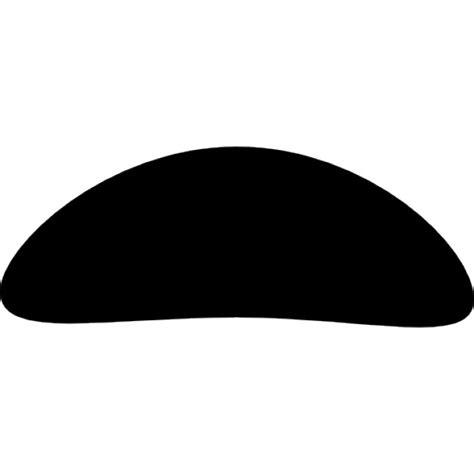 Gelang Decorated Moustache Shape Design Black oval shaped moustache icons free