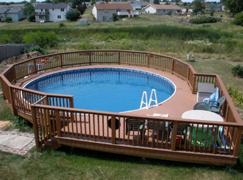 uniquely awesome  ground pools  decks