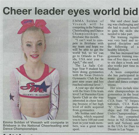 news in 2014 emma soldan cheerleader world bid echo