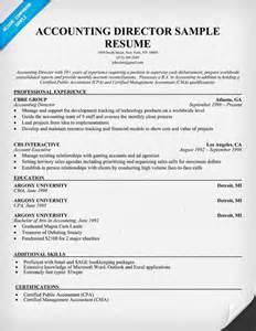 Sample Resume For Cpa Accounting Director Resume Sample College Pinterest