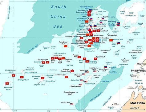 spratly islands map philippines and the spratly islands