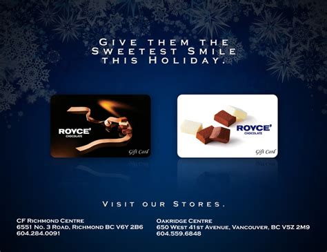 Oakridge Mall Gift Card - holiday gift idea royce canada gift baskets gift cards