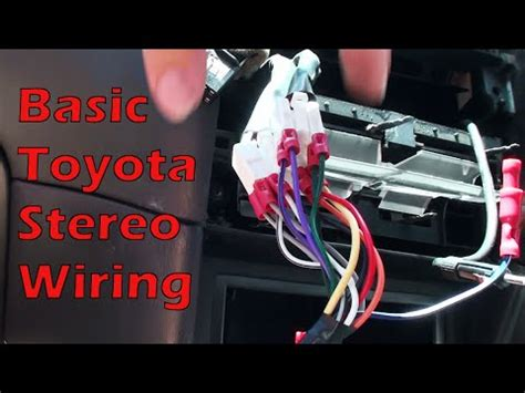 wire almost any basic toyota stereo youtube
