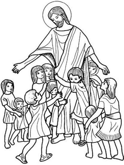dibujos para colorear de ninos jesus dibujos cristianos de jesus con los ni 241 os para colorear