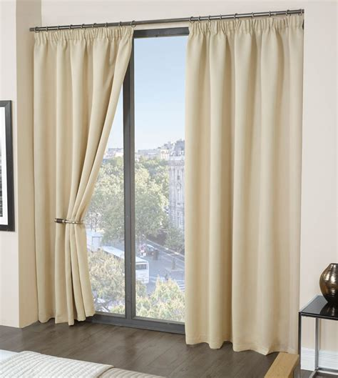 heavy insulated curtains thermal blackout heavy weight plain pencil pleat curtains
