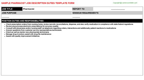 Pharmacist Description by Pharmacist Description Careers Descriptions