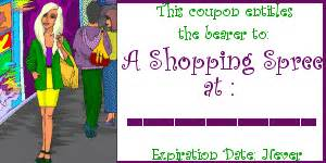 Shopping Spree Certificate Template by Get Free Printable Coupons Now Romancestuck