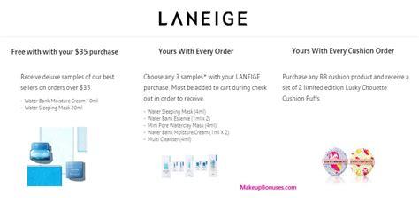 Laneige Mini Pore Waterclay Mask 4ml laneige 5 free gift with purchase makeup bonuses