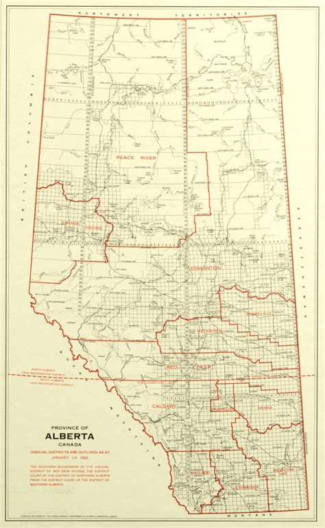 Judicial Records Alberta S Court Documents Judicial Districts 1887 1906