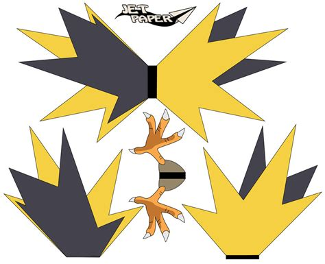 Zapdos Papercraft - zapdos pt2 by jetpaper on deviantart