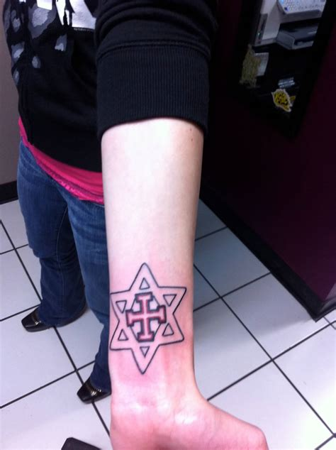 cross star tattoos of david tattoos askideas