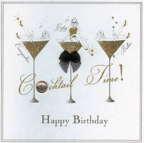 martini birthday card mojolondon cocktail time birthday card by five dollar shake