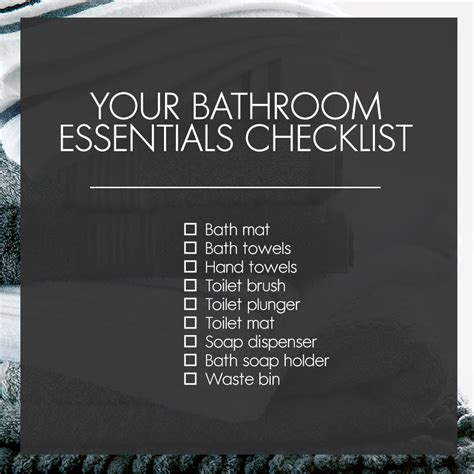 bathroom essentials checklist bathroom essentials woolworths co za