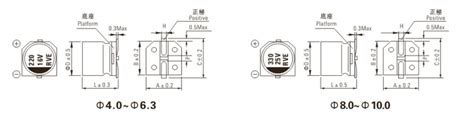 100uf capacitor dimensions surface mount electrolytic capacitor 100uf 16v surface mount electrolytic capacitor
