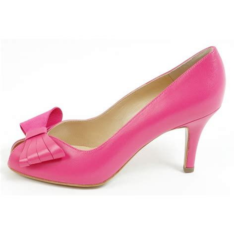pink shoes for kaiser stella peep toe court shoes medium heel