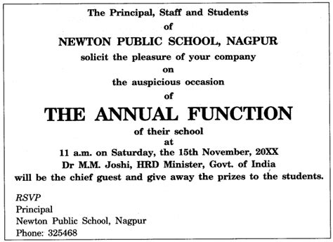 Invitation Letter Format For Annual Function invitation letter format for annual function images