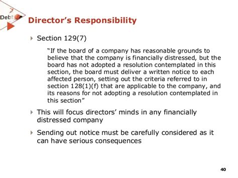 Section 129 Letter Of Demand business rescue opportunities for distressed funds in