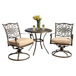 traditions metal 3 patio bistro furniture set target