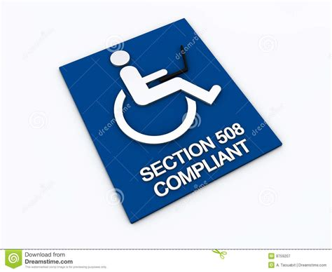 section 508 compliance section 508 accessibility disability royalty free stock