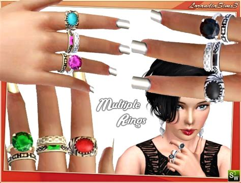 78 best the sims 3 accessories images on pinterest multiple rings for females by lore at lorandia sims 3