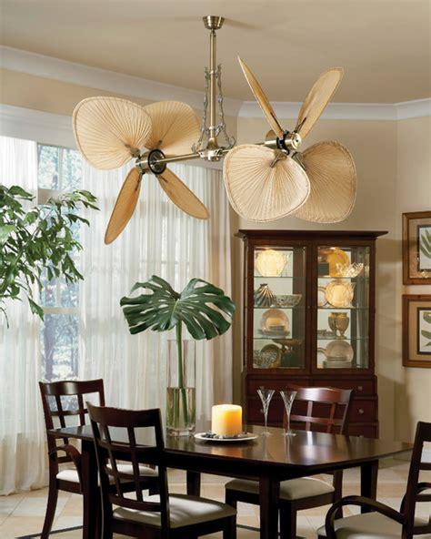 palisade ceiling fan  fanimation tropical dining