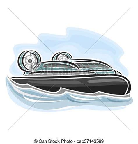 boat propeller artwork hovercraft vector illustration of logo for hovercraft on