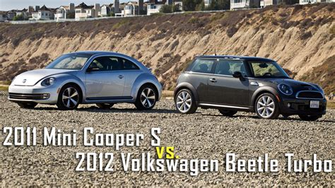 mini volkswagen beetle mini cooper s vs vw beetle turbo road test roadandtrack com