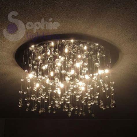 plafoniere a soffitto moderne plafoniera soffitto cristalli pendenti design moderno