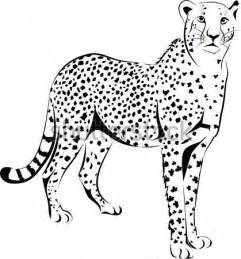 Running Cheetah Outline by Dibujo De Chita Imagui