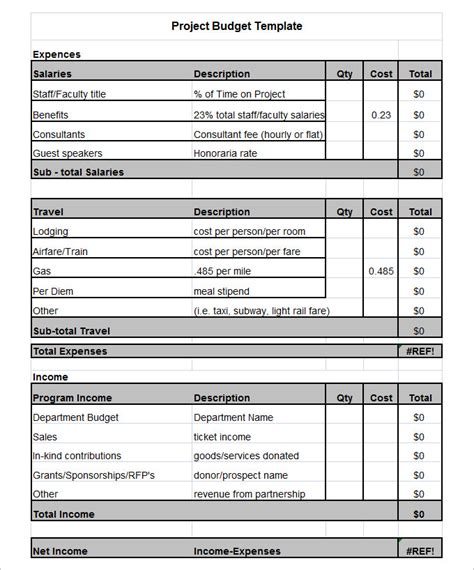 project budget spreadsheet template project budget template 3 free word pdf documents