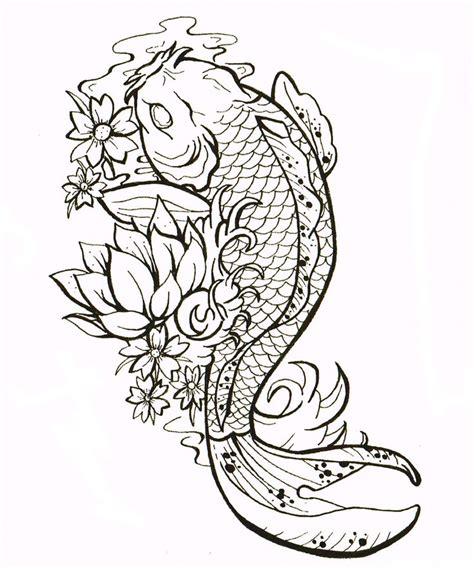 koi tattoo outline best 25 koi tattoo design ideas on pinterest japanese