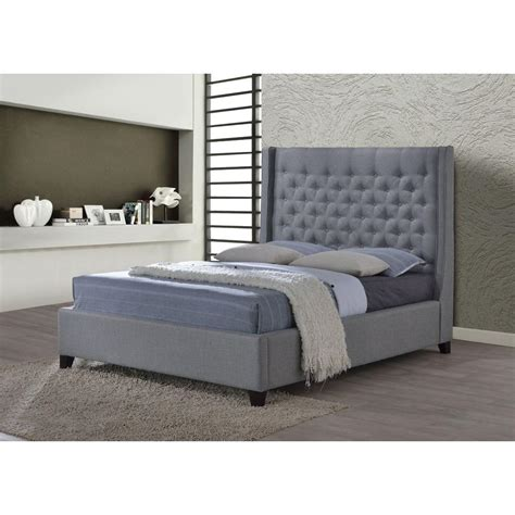 grey tufted king bed home decorators collection gordon grey queen sleigh bed