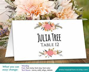 printable wedding place cards diy printable wedding place card template instant