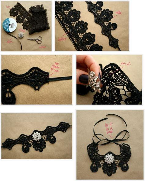 how to make lace jewelry diy lace choker fashion is my
