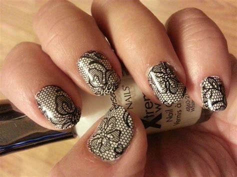 Nail Blacklace black lace nail decals or nails use