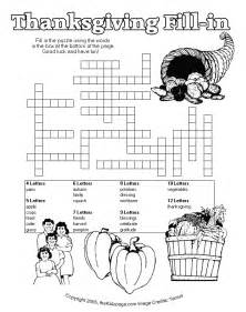 printable thanksgiving crossword puzzles thanksgiving fill in puzzle free printable learning