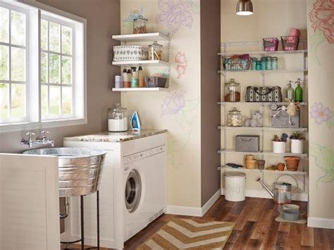 laundry room shelving 10 clever storage ideas for your tiny laundry room hgtv