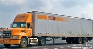 Yrc mack tractor trailer day cab truck yellow roadway corp trucking