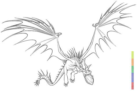 scauldron dragon coloring page datei mmonstrous nightmare how to train your dragon
