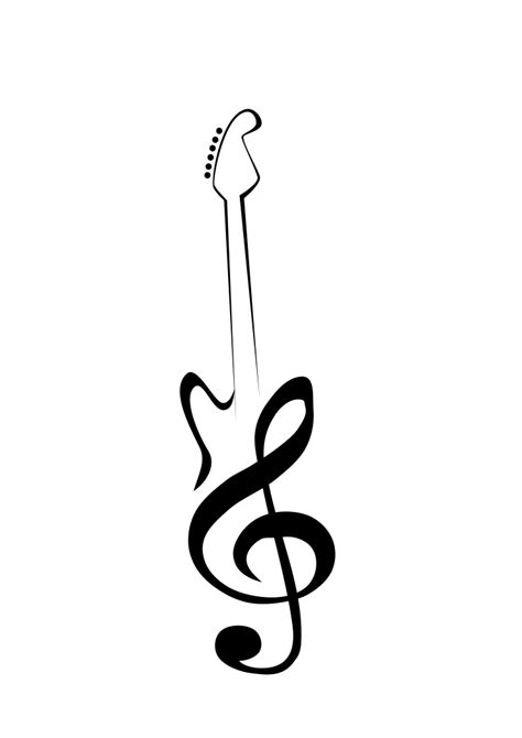 tribal guitar tattoos guitar clef by mangledmess im 225 genes clef