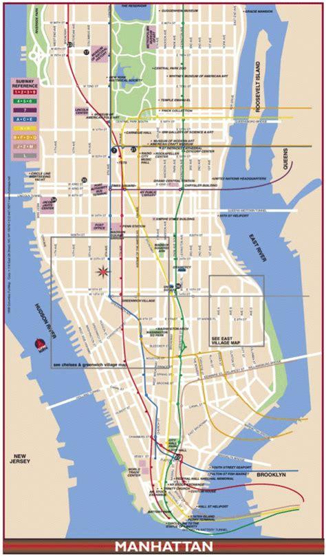 map manhattan streets map of manhattan travelquaz