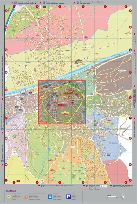 perpignan map large detailed tourist map of perpignan