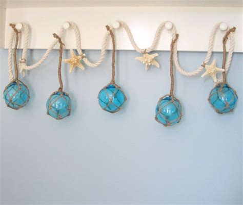nautical decor buoy starfish garland beach decor 40 best images about shell rope on pinterest