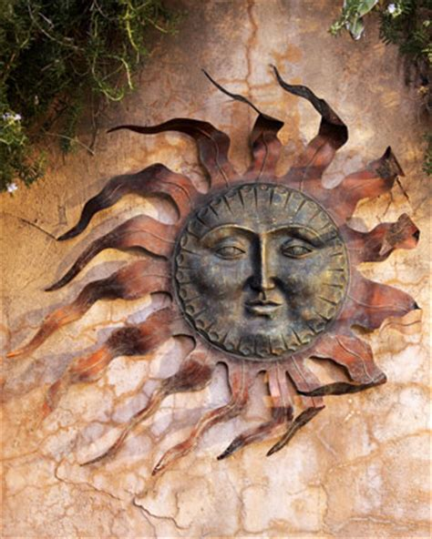 Sun Wall Decor Outdoor by Outdoor Resin Decor Neiman Outdoor Resin