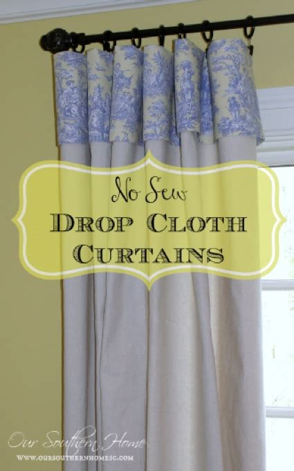 how to make curtains from drop cloths how to make no sew curtains using drop cloths homestead