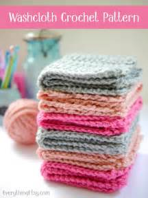 crochet washcloth pattern free