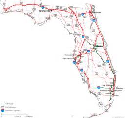 florida state road map free printable maps florida state road map printfree