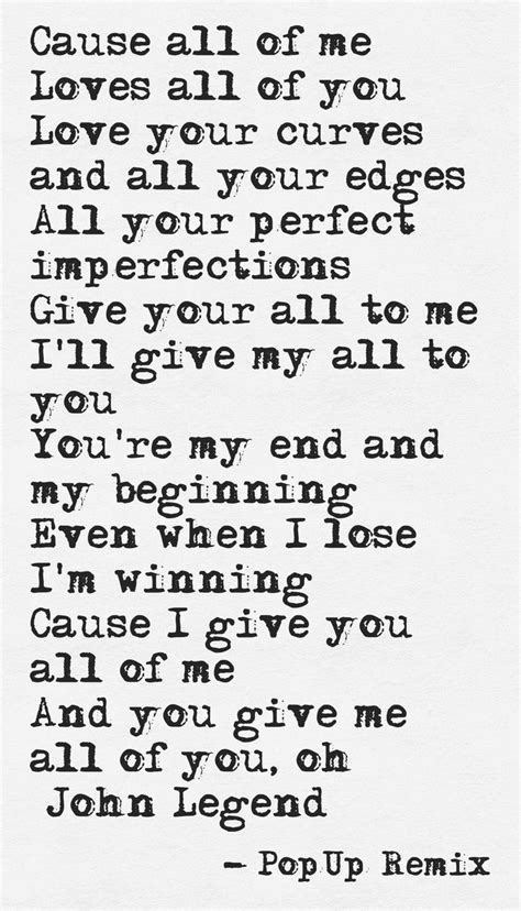 printable lyrics all of me john legend lyrics pinterest beautiful wedding and