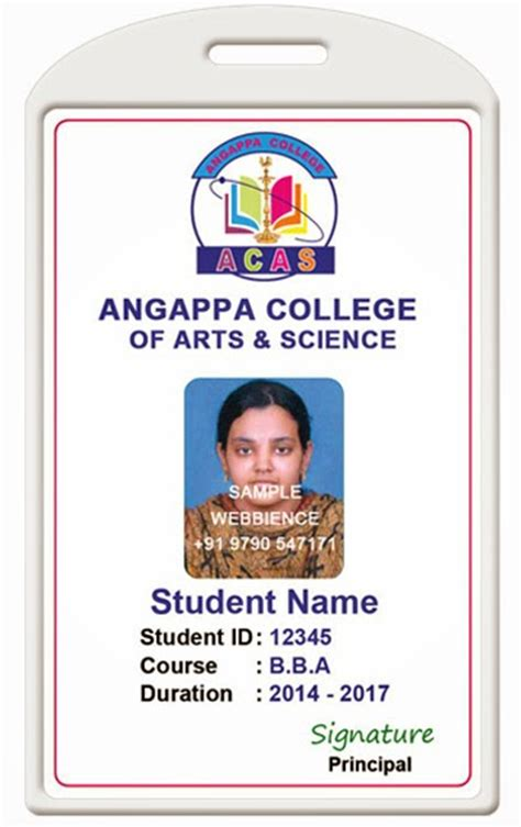 plastic sample employee id cards student id card samples in